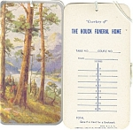 Click here to enlarge image and see more about item cs0730: Houck Funeral Home Bookmark,Scorecard
