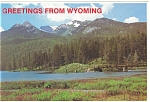 Green River Lakes, Wyoming Postcard