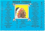Click here to enlarge image and see more about item cs0739: Indian Symbols and Their Meaning Postcard cs0739
