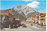 Click here to enlarge image and see more about item cs0748: Banff Avenue,Banff National Park,Canada Postcard