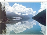 Click here to enlarge image and see more about item cs0750: Woss Lake Vancouver Island BC Canada Postcard cs0750