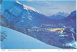 Click here to enlarge image and see more about item cs0758: Banff in Moonlight Banff National Park Canada Postcard cs0758