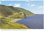 Click here to enlarge image and see more about item cs0763: Cape Rouge Cabot Trail NS Canada Postcard cs0763