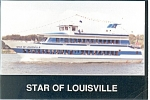 Star of Louisville Cruise Boat Postcard cs0774