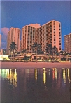 Hawaiian Regent Hotel Waikiki Beach Hawaii Postcard cs0792