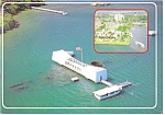 Click here to enlarge image and see more about item cs0796: USS Arizona Memorial Postcard Pearl harbor HI cs0796