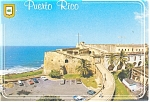 Click here to enlarge image and see more about item cs0807: San Juan Puerto Rico Castle of San Cristobal Postcard cs0807
