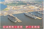 Click here to enlarge image and see more about item cs0825: Carrier Piers, Norfolk, VA  Postcard