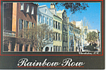 Click here to enlarge image and see more about item cs0847: Charleston SC Rainbow Row Postcard cs0847
