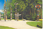 Click here to enlarge image and see more about item cs0852: Totem Poles, Vancouver, BC Canada Postcard 1981