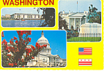 Washington DC-Three View Postcard 1982