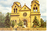 Santa Fe NM  Francis of Assisi Cathedral Postcard cs0873