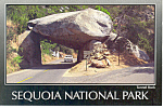 Click here to enlarge image and see more about item cs0909: Sequoia National Park CA Tunnel Rock Postcard cs0909