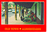 Click here to enlarge image and see more about item cs0915: Old Town Albuquerque New Mexico Postcard cs0915