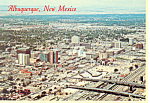 Click here to enlarge image and see more about item cs0916: Aerial View Albuquerque, New Mexico Postcard