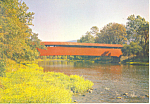 Click here to enlarge image and see more about item cs0935: Red Covered Bridge Millmont PA Postcard cs0935