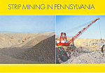 Strip Mining in Pennsylvania Postcard