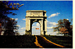 Valley Forge PA National Memorial Arch Postcard cs0995