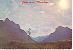 Click here to enlarge image and see more about item cs1008: Chiricahua Mountains, AZ Postcard 1978