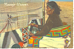 Click here to enlarge image and see more about item cs1025: Navajo Rug Weaver Postcard 1977