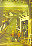 Amish Telephone Artwork Postcard cs1041