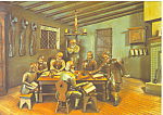 Click here to enlarge image and see more about item cs1049: Amish Amman/Reist Meeting Artwork Postcard cs1049
