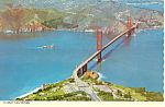 Golden Gate Bridge San Francisco CA  Postcard cs1052 1971