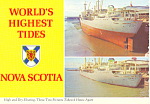 Click here to enlarge image and see more about item cs1065: High and Low Tides, Nova Scotia,Canada Postcard