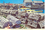 Click here to enlarge image and see more about item cs1070: Lobster Fishing, Nova Scotia,Canada Postcard