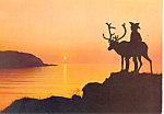 Lap and Reindeer, Norway Postcard