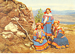 Lap Girls Norway Postcard