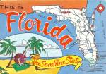 Click here to enlarge image and see more about item cs10839: Florida State Map Postcard cs10839