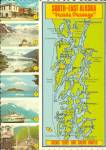Click here to enlarge image and see more about item cs11081: Alaskan Inside Passage Map cs11081