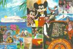 Mickey and Minnie on a Travel Agency Post Card cs11330
