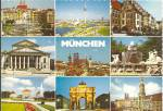 Munich Germany  Nine Views postcard cs11372