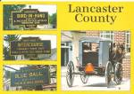 Click to view larger image of PA Towns Unique Names Amish Buggies Farmers cs11705 (Image1)