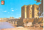 Roman Fortress Cordoba Spain Postcard cs1178