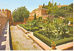 Fortress Gardens Almeria Spain Postcard cs1197