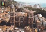 Click here to enlarge image and see more about item CS12027F: Malaga Spain Air View of the Cathedral Postcard CS12027F