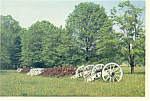 Valley Forge PA Artillery Park Postcard cs1246