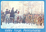 March to Valley Forge PA  Postcard cs1248