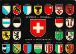 Click here to enlarge image and see more about item CS12672: Switzerland Various Coats of Arms Postcard CS12672