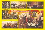 Click here to enlarge image and see more about item CS12706: Historic Paintings of The Bicentennial of Freedom Postcard CS12706