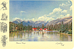Click here to enlarge image and see more about item cs1270: Bow River and the Canadian Rockies  Postcard cs1270
