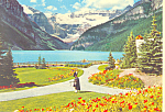 Click here to enlarge image and see more about item cs1279: Piper at Lake Louise Banff Alberta Canada  Postcard cs1279