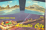 Click here to enlarge image and see more about item cs1282: Greeting From Atlantic City NJ Postcard cs1282