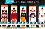 Click here to enlarge image and see more about item CS12839: Canton Ohi0 Pro Football Uniform Evolution Postcard CS12839