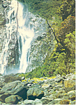Click here to enlarge image and see more about item cs1311: Bowen Falls New Zealand  Postcard cs1311