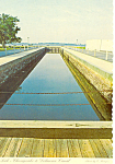 Click here to enlarge image and see more about item cs1344: Chesapeke Delaware Canal Lock, DE Postcard