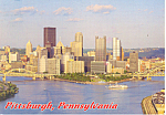 Pittsburgh PA Skyline  Postcard cs1345 1993